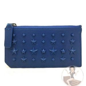 Jimmy Choo Star Studded Leather Wallet Coin purse